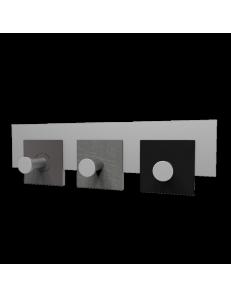 CALLEADESIGN: Stripes appendiabiti rettandolare da muro moderno 3 ganci radica grigia nero in