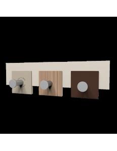 CALLEADESIGN: Stripes appendiabiti rettandolare da muro moderno 3 ganci noce canaletto in offerta