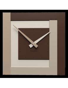 CALLEADESIGN: Stripes clock Ø 40 orologio da parete moderno cioccolato in offerta