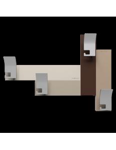 CALLEADESIGN: Stripes 80 appendipanni moderno da muro parete legno color cioccolato e toni beige in