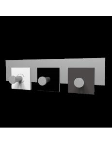 CALLEADESIGN: Stripes appendiabiti rettandolare da muro moderno 3 ganci nero bianco grigio in