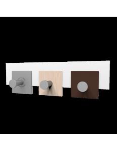 CALLEADESIGN: Stripes appendiabiti rettandolare da muro moderno 3 ganci rovere decapè in offerta