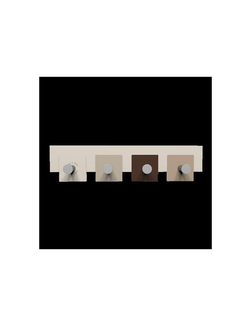 CALLEADESIGN: Stripes appendiabiti da muro moderno 4 pomelli quadrati cioccolato in offerta
