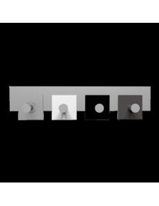 CALLEADESIGN: Stripes appendiabiti da muro moderno 4 pomelli quadrati nero bianco grigio in offerta