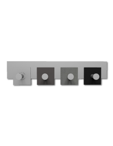 CALLEADESIGN: Stripes appendiabiti da muro moderno 4 pomelli quadrati radica grigia in offerta