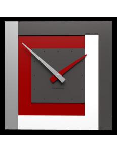 CALLEADESIGN: Stripes clock Ø 40 orologio moderno da parete rosso rubino bianco grigio in offerta