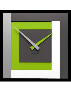 CALLEADESIGN: Stripes clock Ø 40 orologio a parete moderno verde mela bianco grigio in offerta