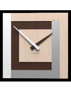 CALLEADESIGN: Stripes clock Ø 40 orologio a parete moderno rovere decape in offerta
