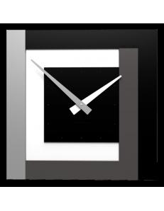 CALLEADESIGN: Stripes clock Ø 40 orologio moderno a parete nero bianco grigio in offerta