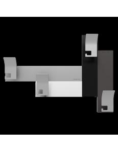 CALLEADESIGN: Stripes 80 appendipanni moderno da muro parete legno color nero grigio bianco in