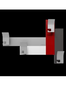 CALLEADESIGN: Stripes 80 appendipanni moderno da muro parete legno color rosso rubino bianco grigio