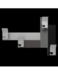 CALLEADESIGN: Stripes 80 appendipanni moderno da muro parete legno color radica grigia nero in
