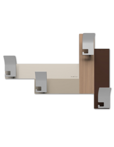 CALLEADESIGN: Stripes 80 appendipanni moderno da muro parete legno color noce canaletto marrone in
