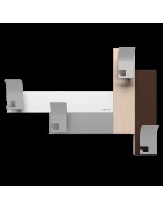 CALLEADESIGN: Stripes 80 appendipanni moderno da muro parete legno color rovere decape in offerta