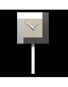 CALLEADESIGN: Stripes orologio a pendolo a parete moderno rovere breeze in offerta