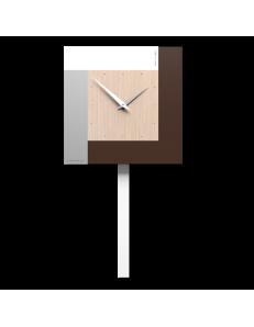 CALLEADESIGN: Stripes orologio da muro moderno a pendolo rovere decape in offerta