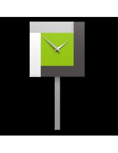 CALLEADESIGN: Stripes moderno orologio a pendolo da muro verde mela in offerta