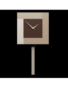 CALLEADESIGN: Stripes orologio da muro a pendolo moderno cioccolato in offerta