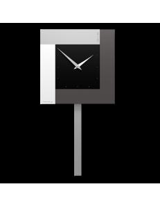 CALLEADESIGN: Stripes orologio da parete a pendolo moderno nero in offerta