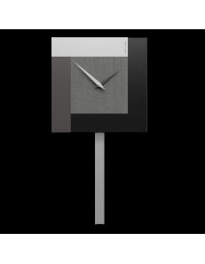 CALLEADESIGN: Stripes orologio da muro a pendolo moderno radica grigia in offerta