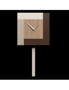CALLEADESIGN: Stripes orologio da muro a pendolo moderno noce canaletto in offerta