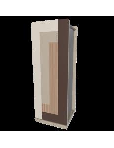 CALLEADESIGN: Stripes portaombrelli moderno da ingresso geometrico color noce canaletto in offerta