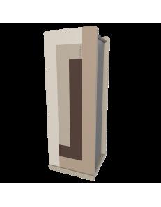 CALLEADESIGN: Stripes portaombrelli moderno da ingresso geometrico color cioccolato in offerta
