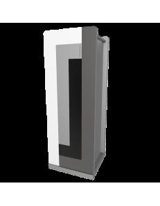 CALLEADESIGN: Stripes portaombrelli moderno da ingresso geometrico color nero grigio bianco in
