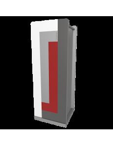 CALLEADESIGN: Stripes portaombrelli moderno da ingresso geometrico color rosso rubino grigio in