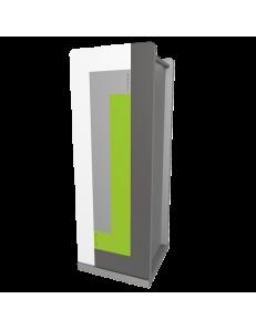 CALLEADESIGN: Stripes portaombrelli moderno da ingresso geometrico color verde mela grigio bianco
