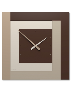 CALLEADESIGN: Stripes clock Ø 63 moderno orologio quadrato da parete cioccolato in offerta