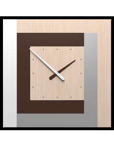 CALLEADESIGN: Stripes clock Ø 63 moderno orologio quadrato da parete rovere decape in offerta