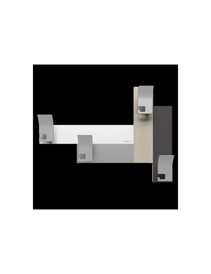 CALLEADESIGN: Stripes 80 appendipanni moderno da muro parete legno color rovere breeze in offerta