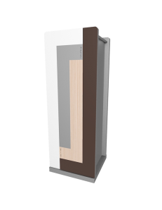CALLEADESIGN: Stripes portaombrelli moderno da ingresso geometrico color rovere decape in offerta