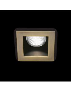 IDEAL LUX: Funky faretto quadrato color brunito da incasso attacco gu10 in offerta