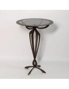 ARTI & MESTIERI: Tavolino alto moderno minerva ferro battuto bronzo per ingresso in offerta