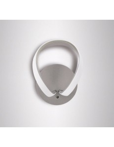 MANTRA: Knot applique led 12w 3000k design moderno grigio lampada in offerta