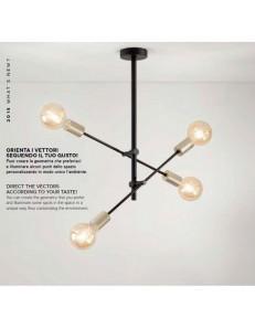 PERENZ: Vector plafoniera 4 luci industrial orientabile in offerta