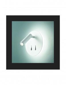 Plug Applique con faretto Led orientabile bianco
