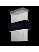 IDEAL LUX: Phoenix sospensione 5 luci nero catene in cristallo molato paralume tessuto in offerta