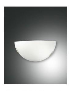 Fox applique bianca in metallo e vetro