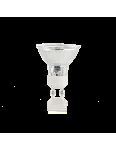 Lampadina GU10 5 watt LED cob faretto vetro spotlight 60° luce calda