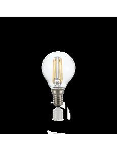 Lampadina E14 led 4w dimmerabile sfera vetro trasparente luce calda