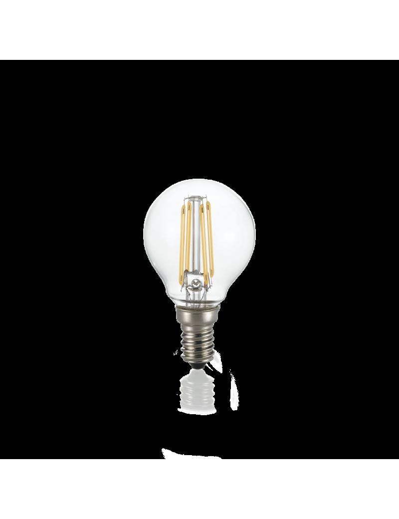 IDEAL LUX: Lampadina E14 led 4w sfera vetro trasparente luce naturale in offerta