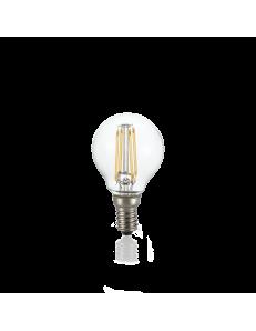 Lampadina E14 led 4w sfera vetro trasparente luce calda