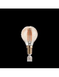 IDEAL LUX: Lampadina E14 led 4w vintage vetro ambrata 2200k in offerta