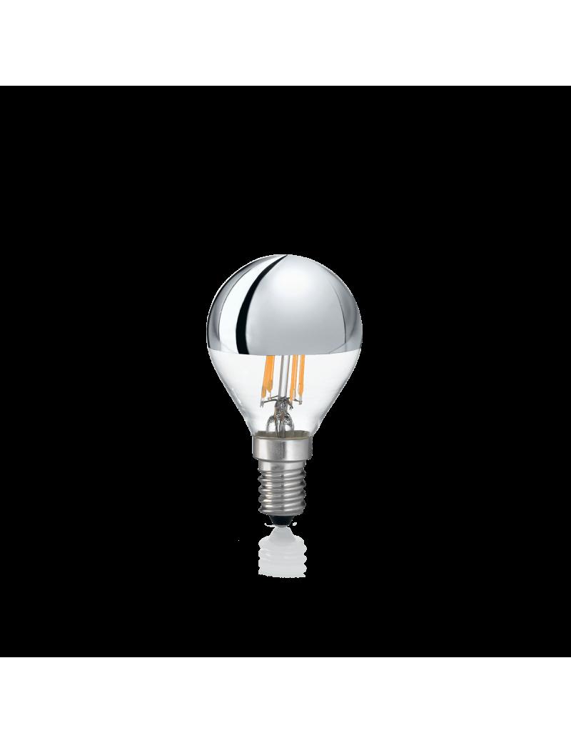 IDEAL LUX: Lampadina E14 led 4w sfera vetro cromo luce calda in offerta