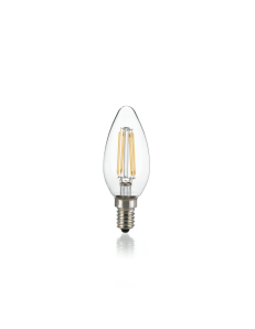 IDEAL LUX: Lampadina E14 led 4w oliva dimmerabile vetro trasparente 3000k in offerta