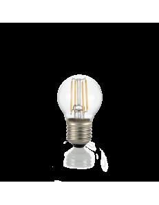Lampadina E27 led 4w sfera vetro trasparente luce calda