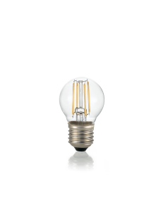IDEAL LUX: Lampadina E27 led 4w sfera vetro trasparente luce naturale in offerta